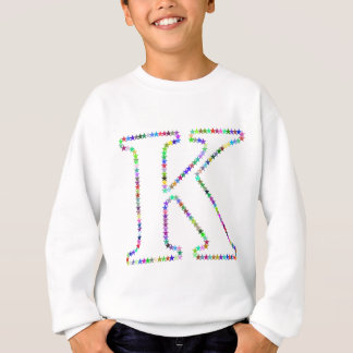 Rainbow Star Letter K Sweatshirt