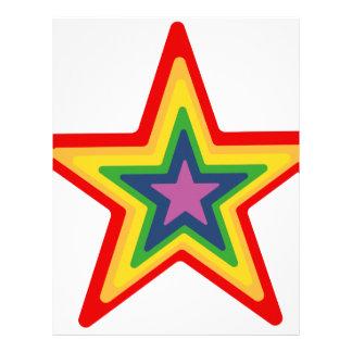 Rainbow Star Letterhead