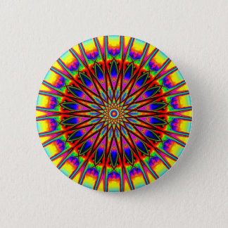 Rainbow Star Mandala 2 Inch Round Button
