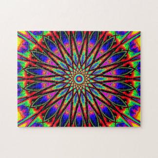 Rainbow Star Mandala | Relaxation Jigsaw Puzzle