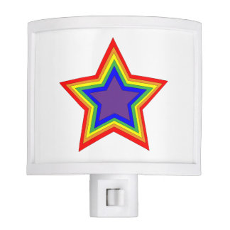Rainbow Star Nightlight Nite Light