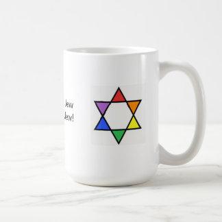 Rainbow Star of David Coffee Mug