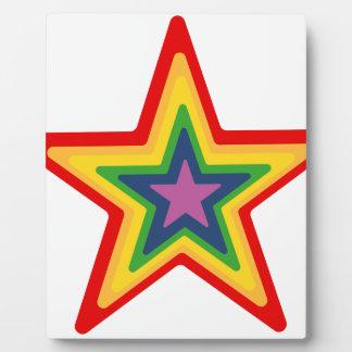 Rainbow Star Plaque
