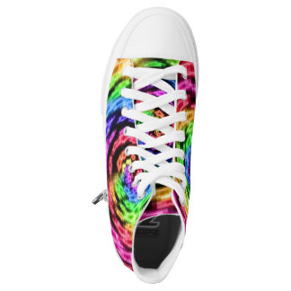 Rainbow Star Vortex High Tops