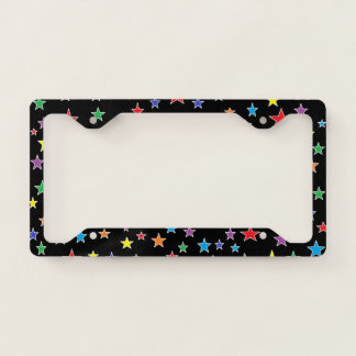 Rainbow Starry Starry Night License Plate Frame