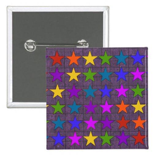 Rainbow Stars Pinback Button