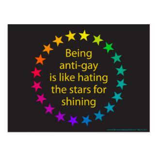 Rainbow Stars Postcard