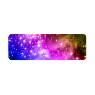 Rainbow Stars Return Address Label