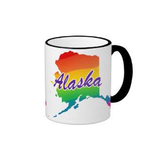 Rainbow State Of Alaska Ringer Coffee Mug