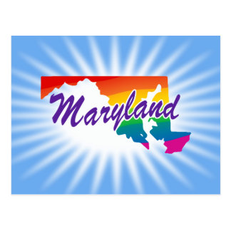 Rainbow State Of Maryland Postcard