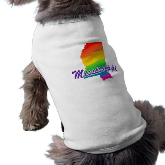 Rainbow State Of Mississippi Doggie T Shirt