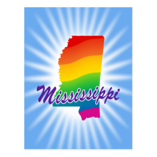 Rainbow State Of Mississippi Postcard