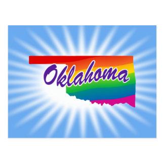 Rainbow State Of Oklahoma Postcard