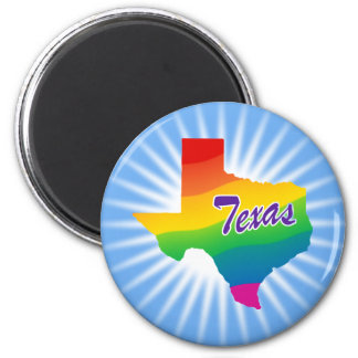 Rainbow State Of Texas Magnet