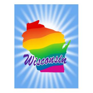 Rainbow State Of Wisconsin Postcard