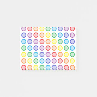 Rainbow Static Circles Post-it Notes