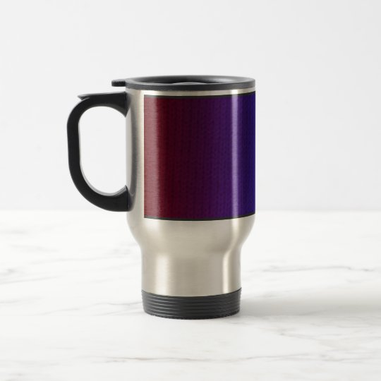 Rainbow Stockinette Travel Mug