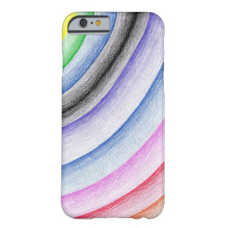 Rainbow stripe barely there iPhone 6 case