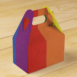 Rainbow stripe favor box