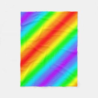 Rainbow Stripe Fleece Blanket