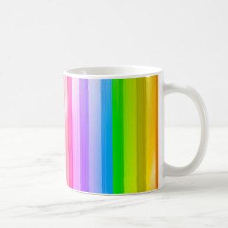 Rainbow Stripe Coffee Mugs