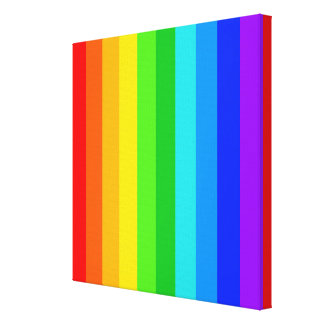 Rainbow Stripe Pattern #2 Canvas Print