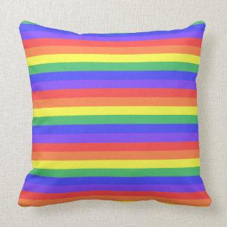 Rainbow Stripe Throw Pillow