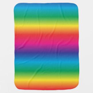 Rainbow Striped Baby Blanket