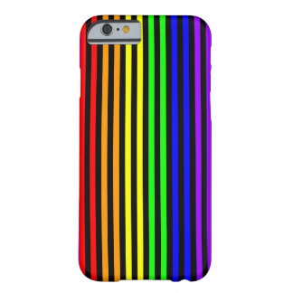 Rainbow Striped Barely There iPhone 6 Case