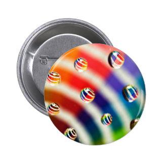 Rainbow Striped Bubbles 2 Inch Round Button