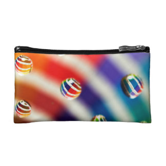 Rainbow Striped Bubbles Cosmetic Bag