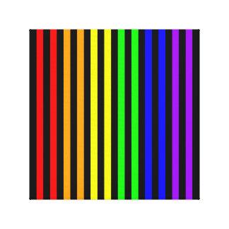 Rainbow Striped Canvas Print
