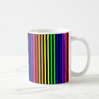 Rainbow Striped Classic White Coffee Mug