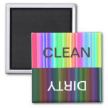 rainbow striped clean/dirty magnet