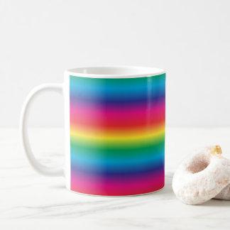 Rainbow Striped Coffee Mug