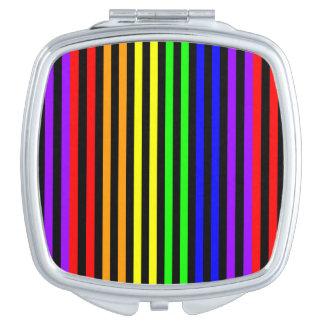 Rainbow Striped Compact Mirror