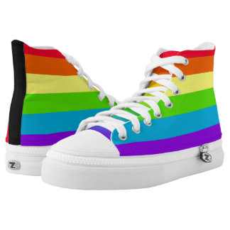 Rainbow Striped High Tops