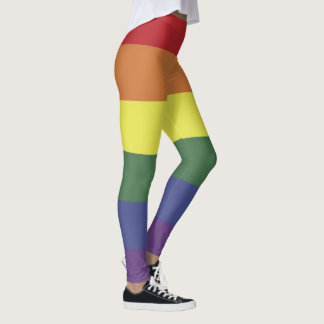 Rainbow Striped LGBT Legging Gay Pride Love
