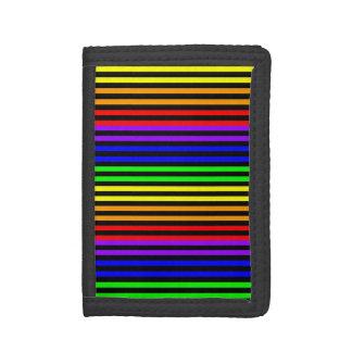 Rainbow Striped Tri-fold Wallet