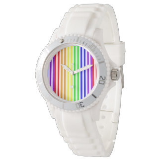 Rainbow Striped Wrist Watches