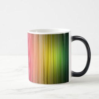 Rainbow Stripes 11 Oz Magic Heat Color-Changing Coffee Mug