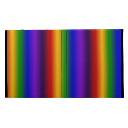 Rainbow Stripes Abstract Blur Colorful Gifts iPad Case