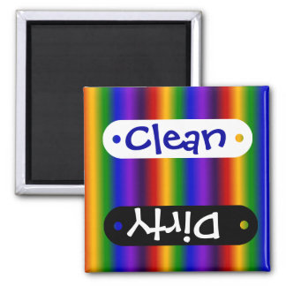Rainbow Stripes Abstract Blur Colorful Gifts Magnet