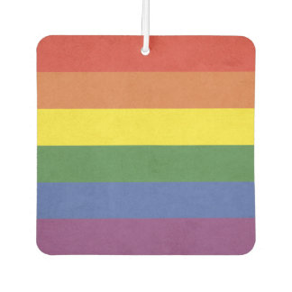 Rainbow stripes air freshener
