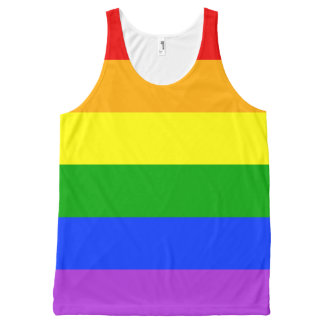 """RAINBOW STRIPES"" All-Over-Print TANK TOP"