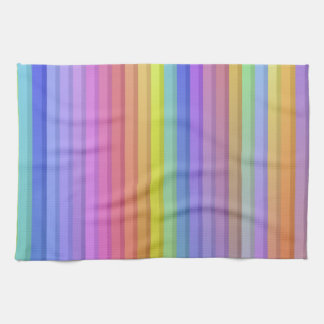 Rainbow Stripes Background Kitchen Towel