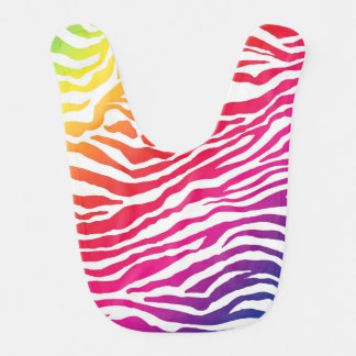 Rainbow Stripes Bib