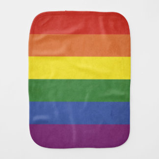 Rainbow stripes burp cloth