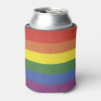Rainbow stripes can cooler