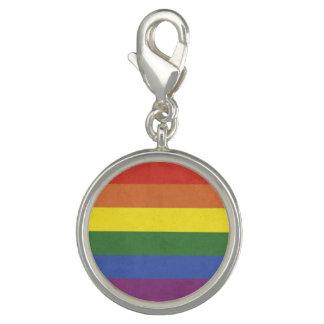 Rainbow stripes charm